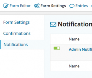 contact form settings