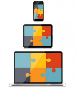 responsive web design with jigsaw pieces