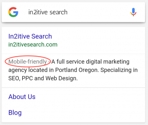 In2itive Search is mobile friendly