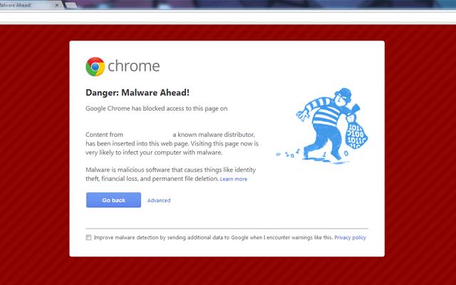 malware ahead screenshoot