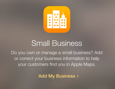 Add My Small Business on Apple Maps