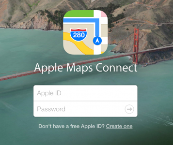 Apple Maps Login