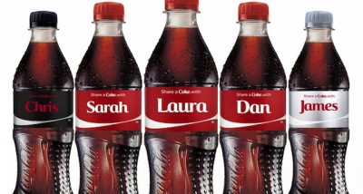 Coke uses names to market their audience