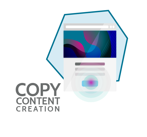 copy content creation logo
