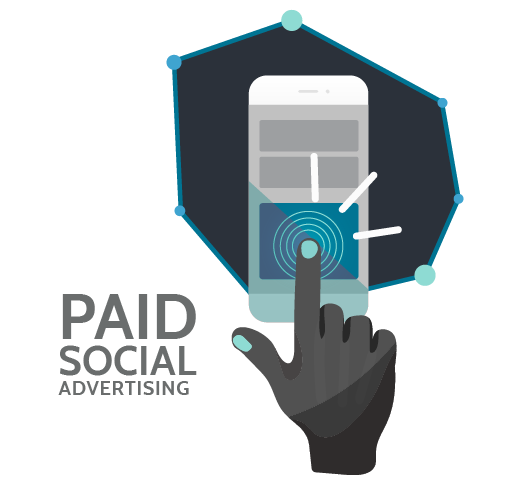paid social advertising logo