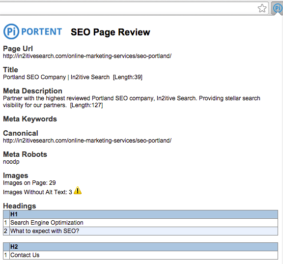Portent SEO Page Review