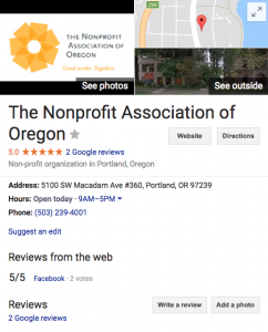 SEO for nonprofits using Google My Business