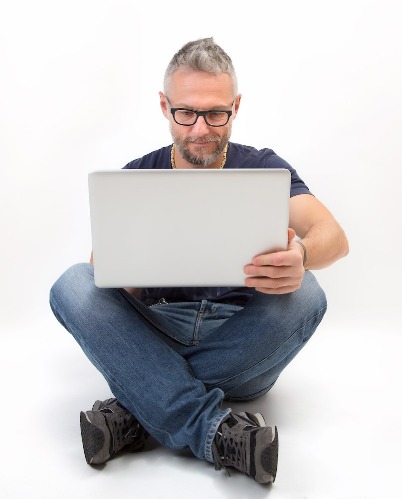 Man reading about how Intuitive Digital does digital marketing