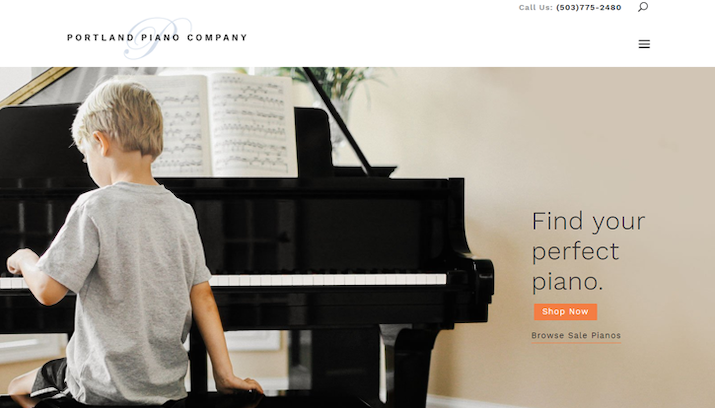 Portland Piano Website Screenshot