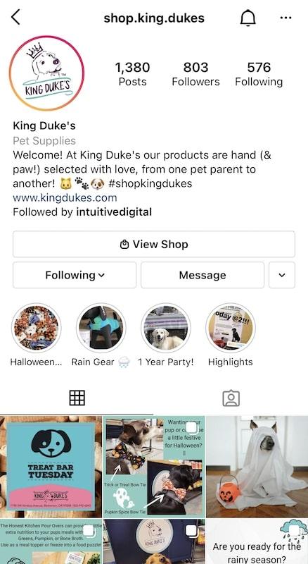 pet store social media account
